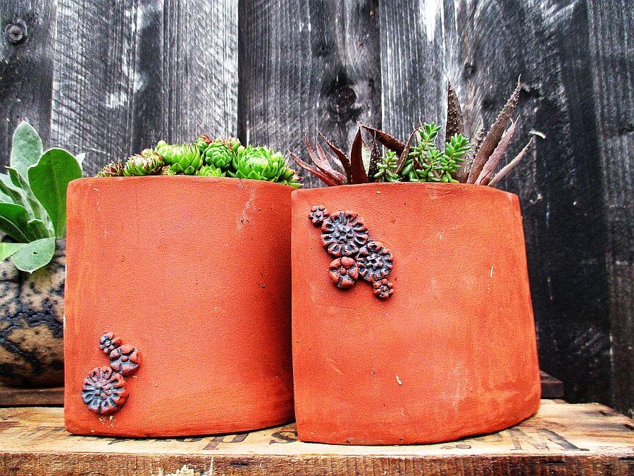 Weinregale Sind Nun Angebracht Und So Kann Ich Dekorieren Hier Zwei Typen Von Pflanzgefäß Für Kleinere Pflanzen