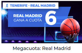 Paston Megacuota ACB: Real Madrid cuota 6 gana 29 mayo