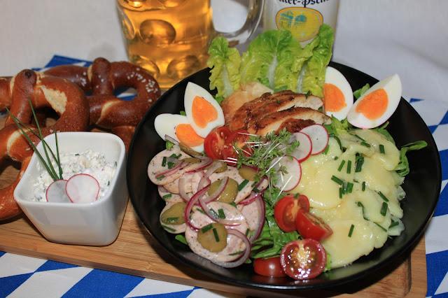 Oktoberfest: bayerischer Wurstsalat