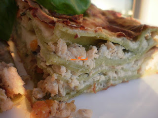 Lasagne with chicken ragout