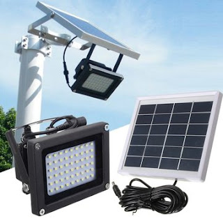 Solar Powered Flood Light Security Lamp