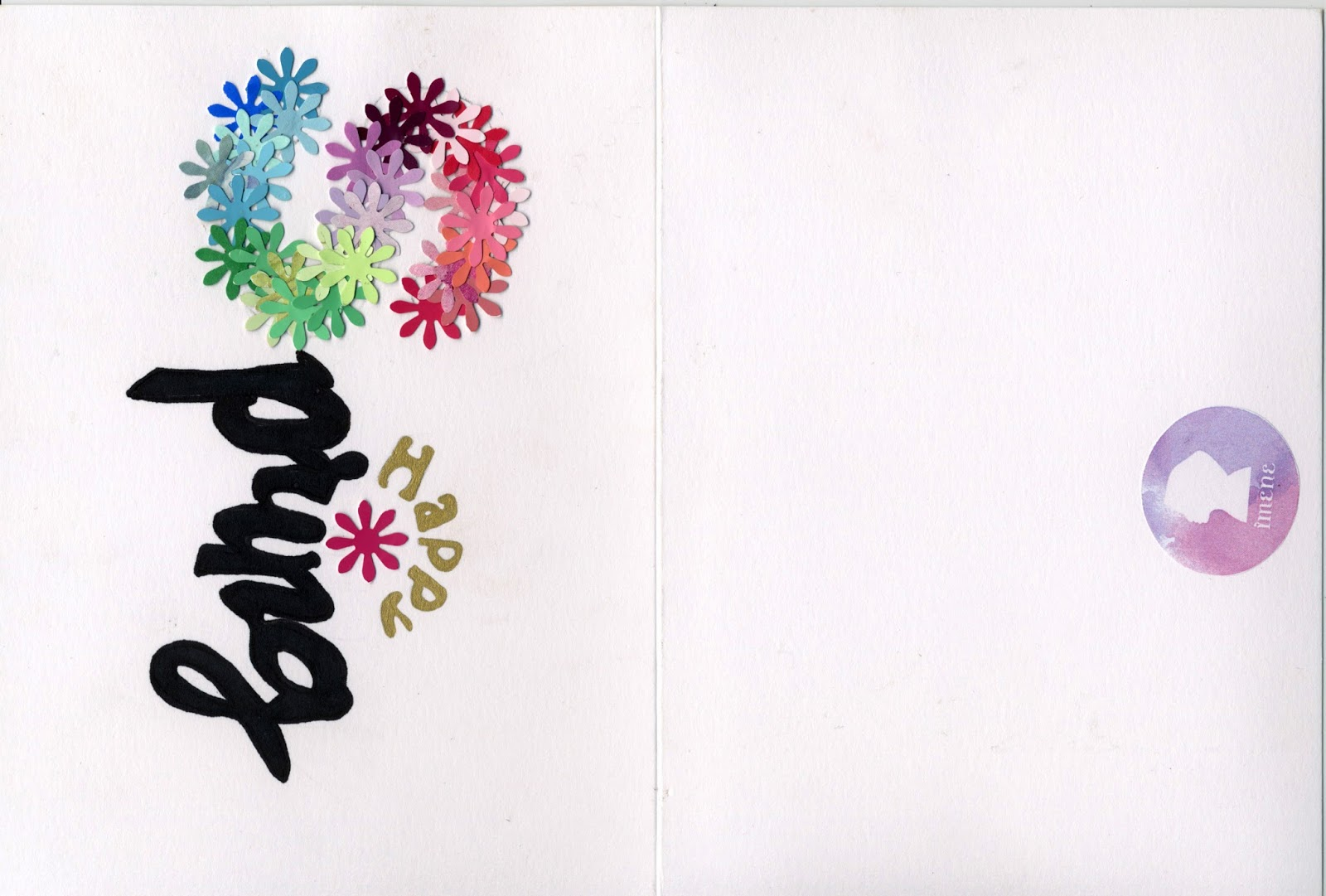 Happy spring greeting card design 2 m4hsunfo