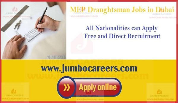 Job openings in MEP Draughtsman Jobs in UAE, Recent job vacancies in Dubai,