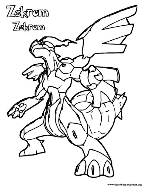 Pokemon Zekrom Coloring Pages Images Pokemon Images
