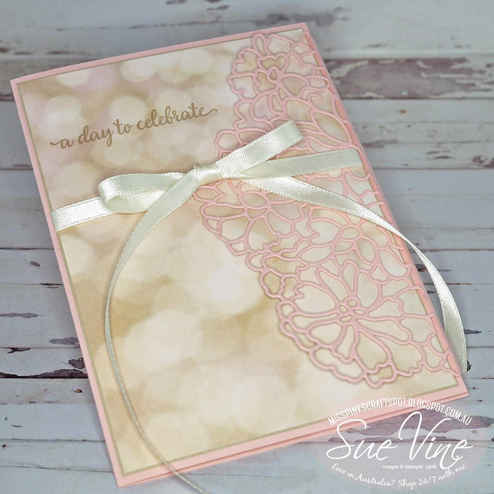 Miss Pinks Craft Spot: So In Love Wedding Invitation