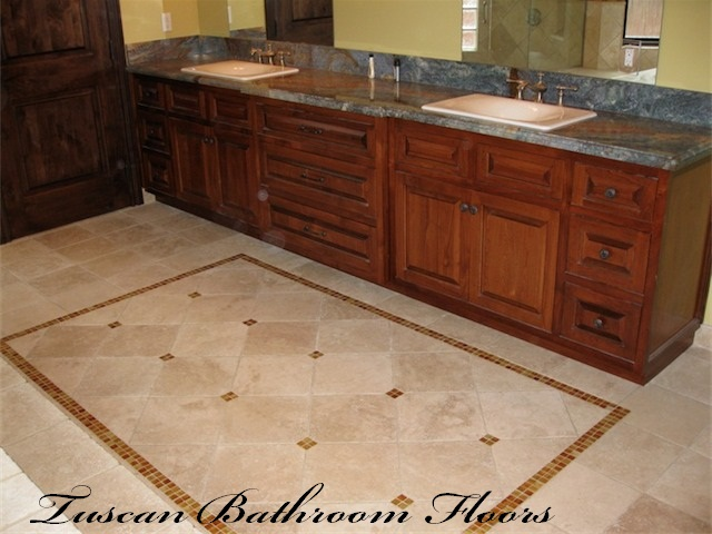 Tuscan Bathroom Floors