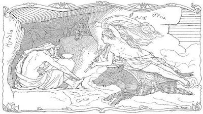 Freyja sul dorso del cinghiale
