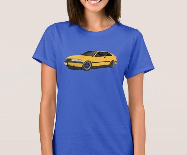 Saab 900 (NG900) t-shirts 90's