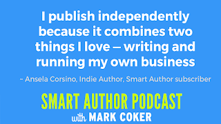 "image reads:  ""I publish independently because it combines two things I love - writing and running my own business"""