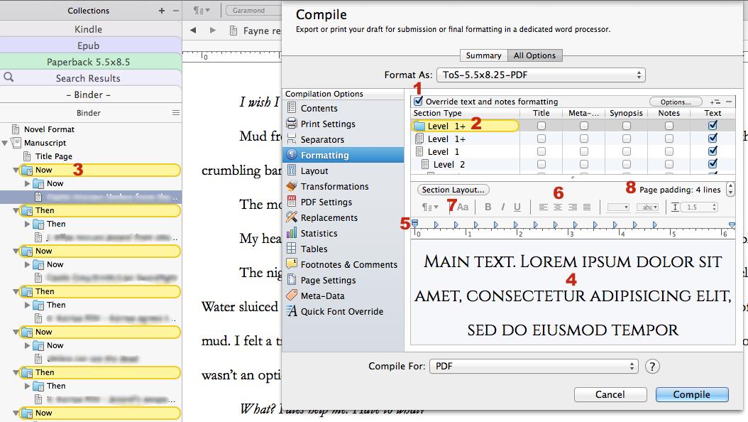 How to format a manuscript?