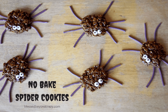 no bake spider cookies