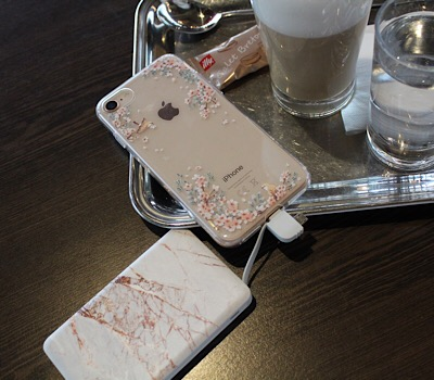 Marble Design Powerbank Iphone