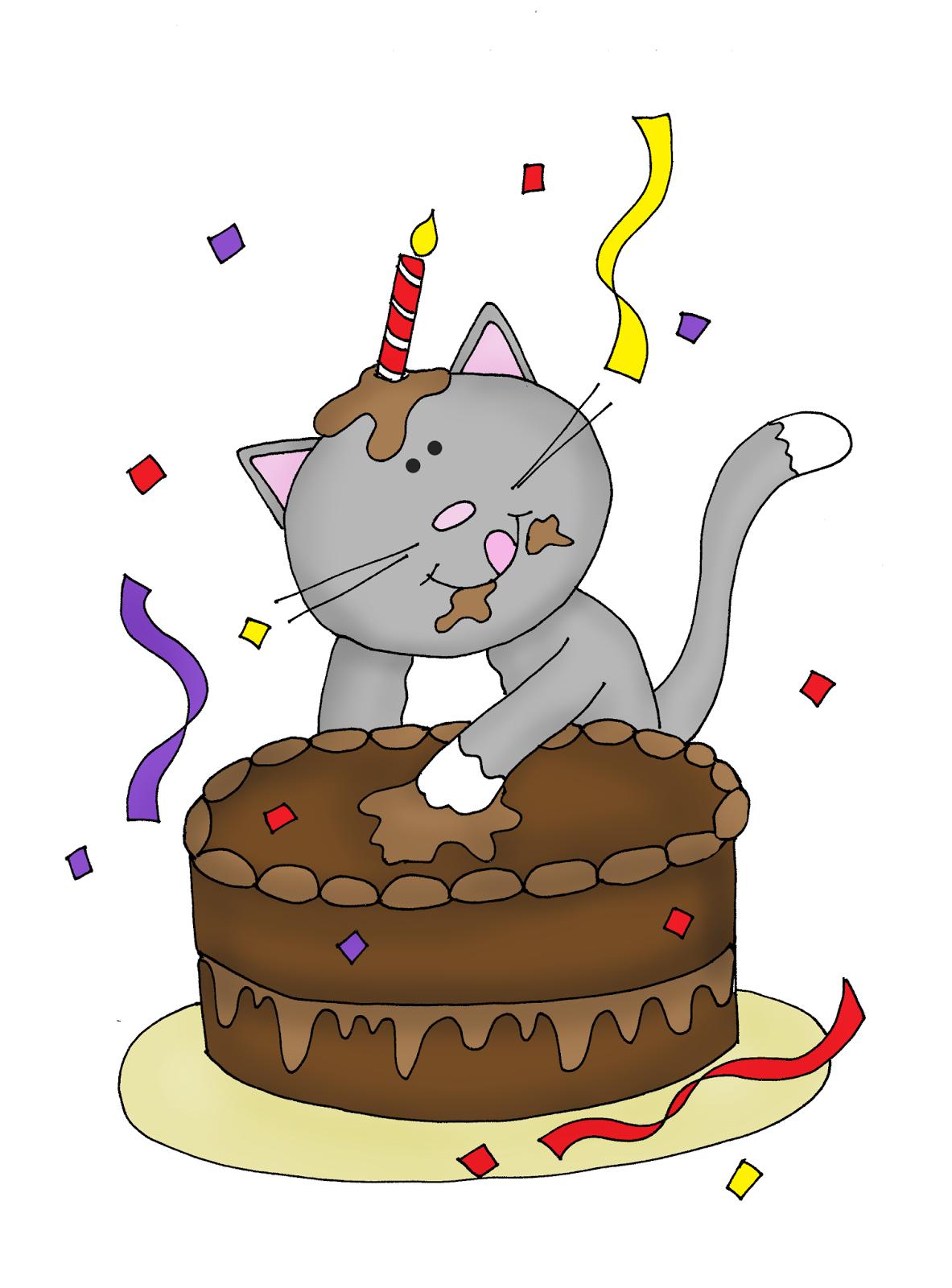 Free Dearie Dolls Digi Stamps Happy Birthday Kitty