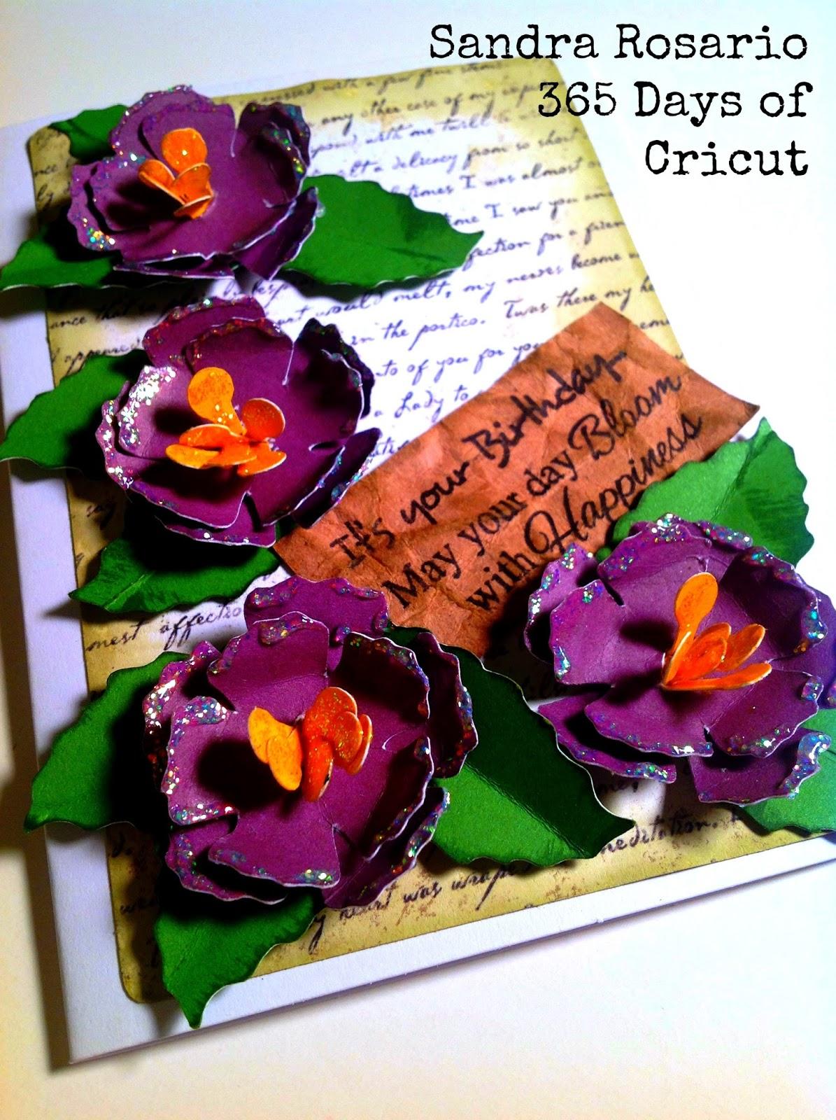 365 days of cricut 79 3d flower birthday card