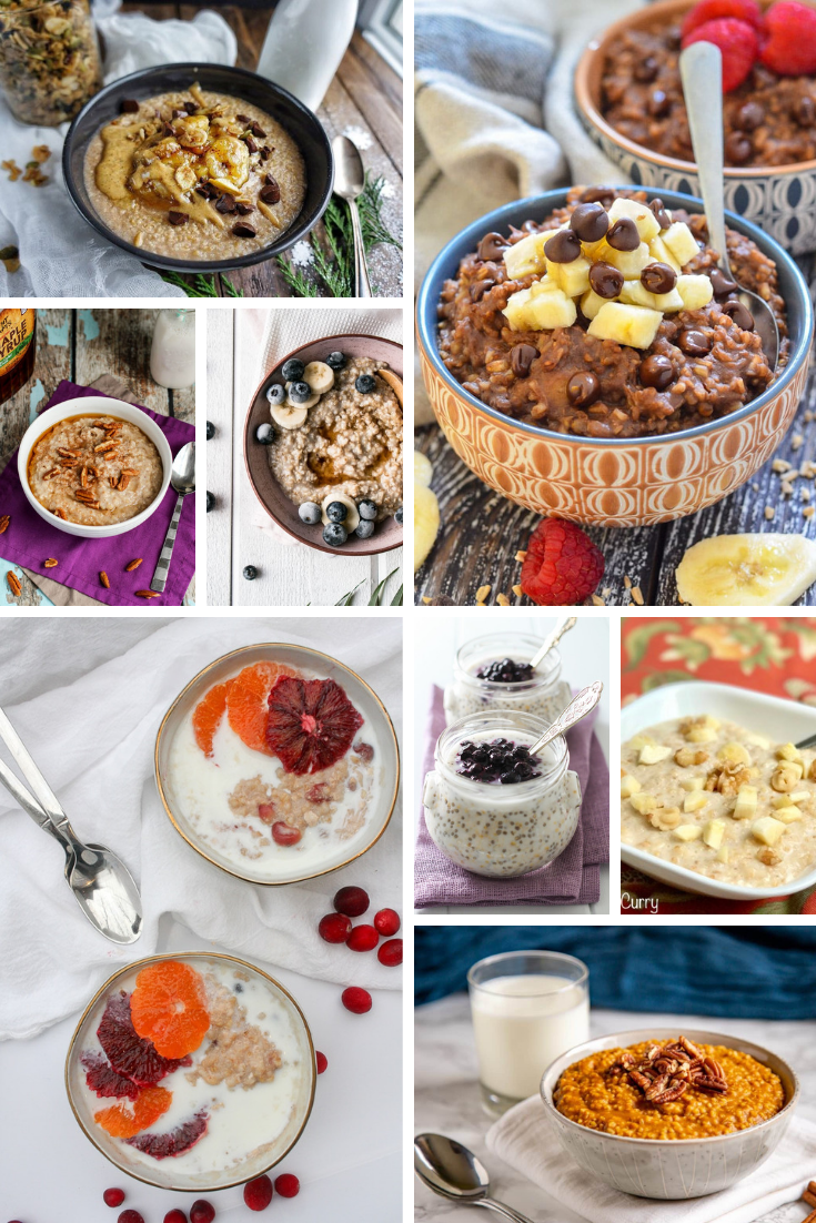 collage of oatmeal recipes