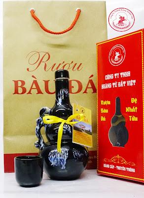 Rượu Bàu Đá chính hiệu với bình hồ lô 250ml làm quà biếu tết 2018