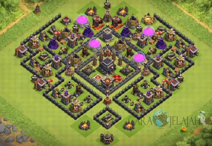 Base Trophy TH 9 COC Update Bomb Tower Terbaru 2017 Tipe 22
