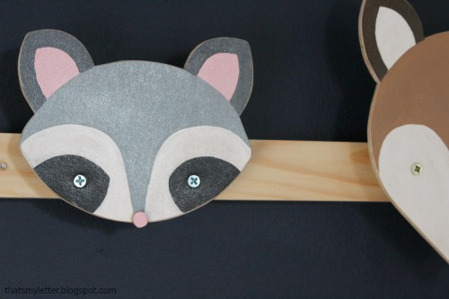 raccoon wall hook