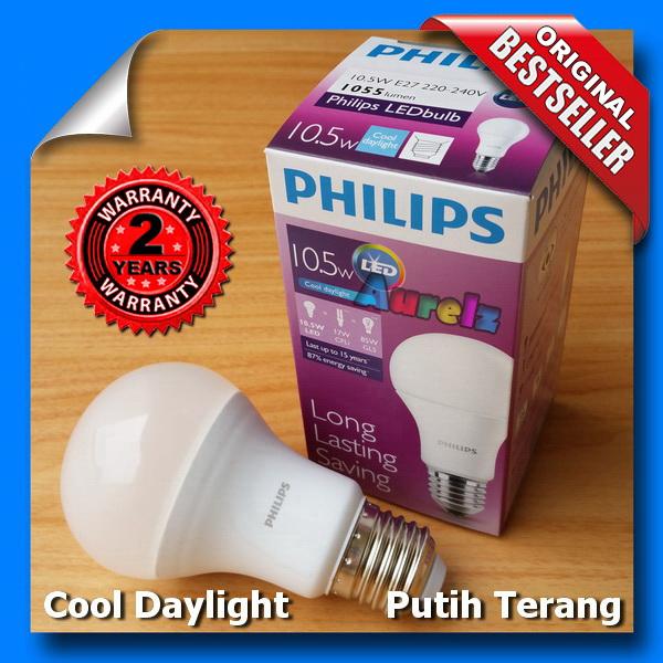 lampu led philips 10.5 watt cool daylight