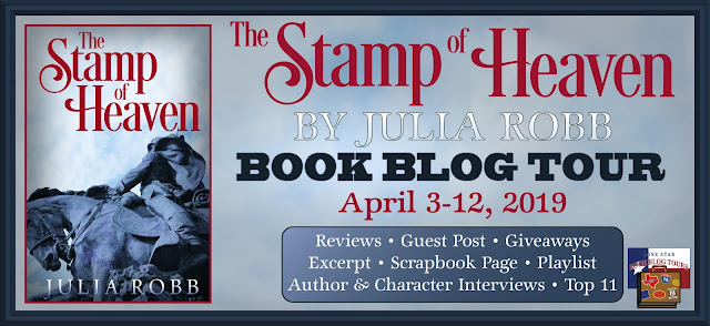 Stamp of Heaven book blog tour promotion banner