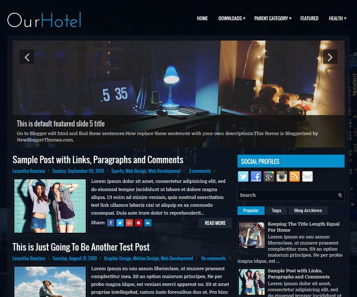OurHotel Blogger Template