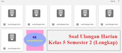 soal ulangan harian kelas 5 semester 2 (lengkap)
