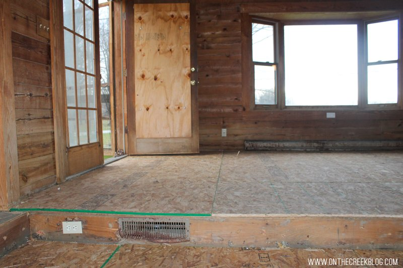 'Before' photo of our dining room when we first purchased our fixer upper!