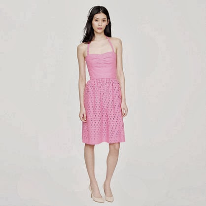 J Crew pretty pink eyelet Loretta dress