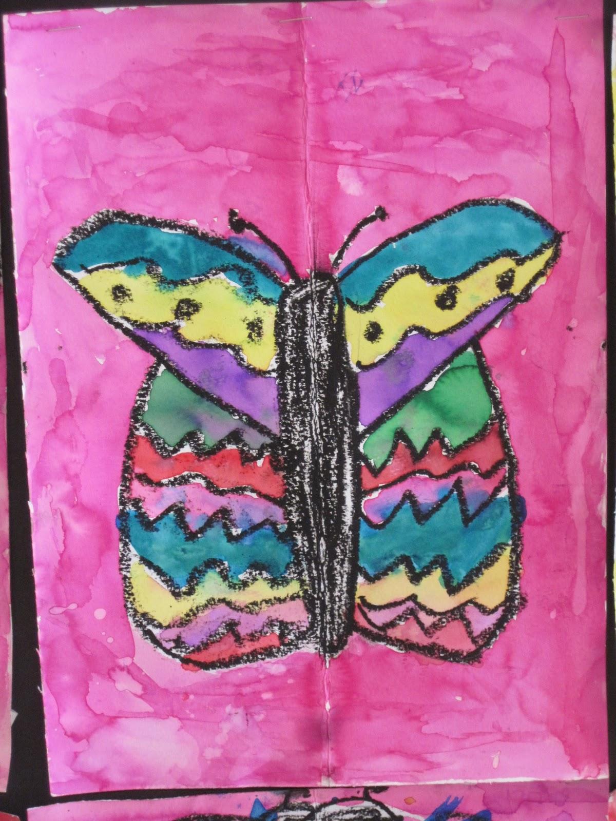 Lines Dots And Doodles Symmetrical Butterflies 1st Grade