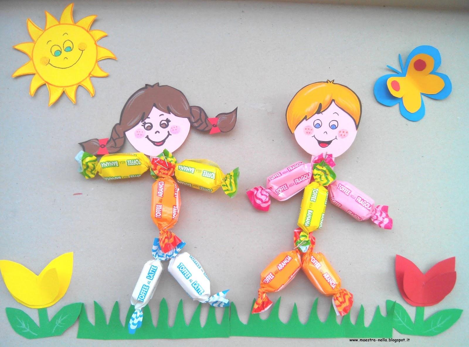 Maestra nella dolci bambini for Idee per cartelloni scuola infanzia