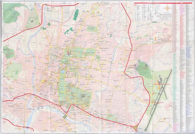 Kathmandu - Plan de la ville 10 000