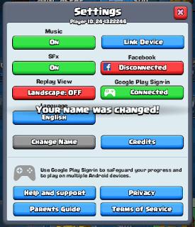 Cara Mengganti Nama Clash Royale Menjadi Berwarna