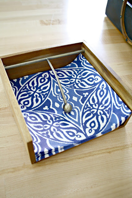 Wood napkin holder