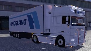 DAF XF + Trailer + V8 Sound + Addon Spedition Hindelang Pack