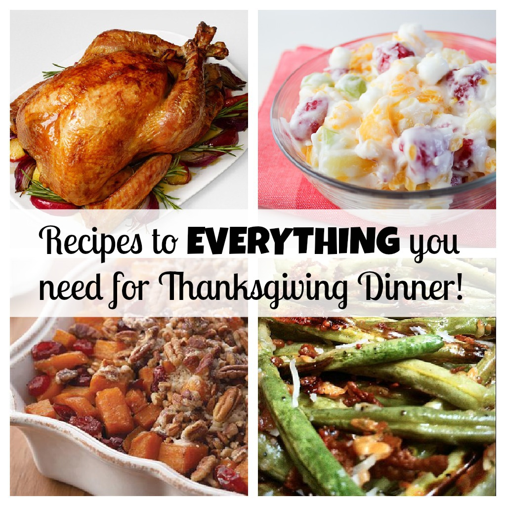 Your COMPLETE Thanksgiving Dinner With Recipes For