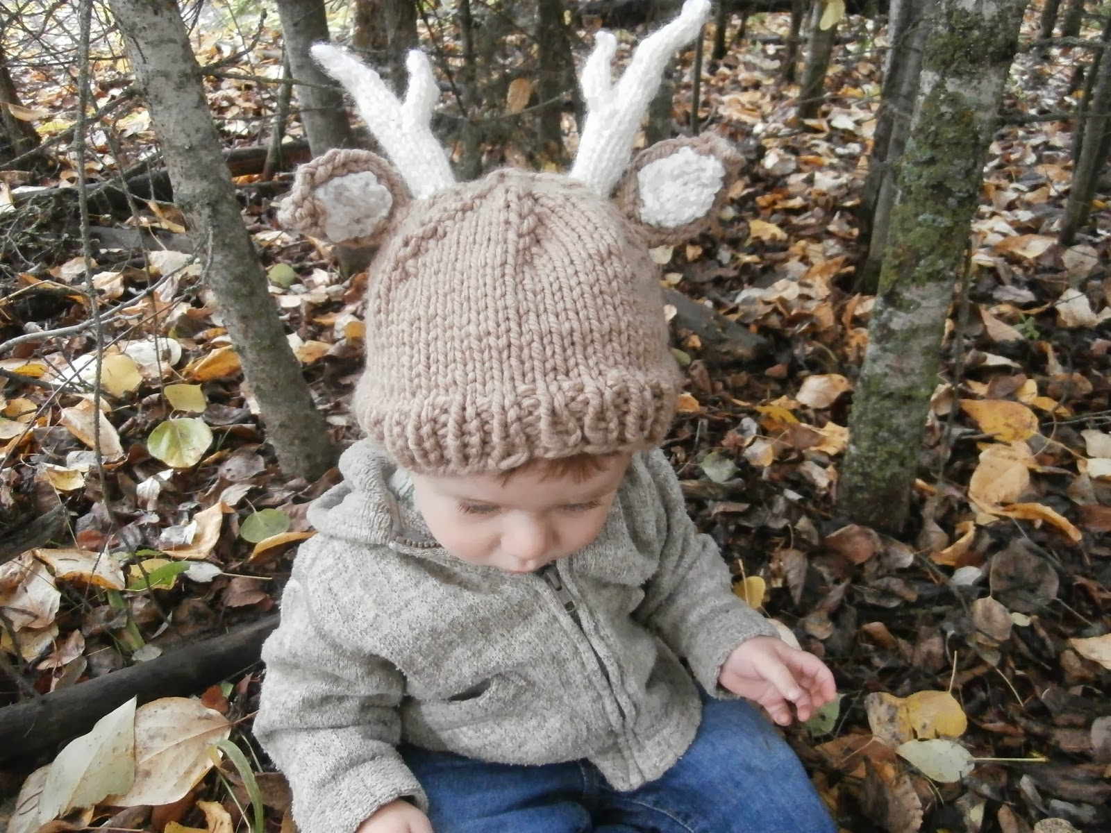 58d7abb32d6 ... hot honey nutbrowns knitting woodland stag deer baby hat 2e295 a9f02