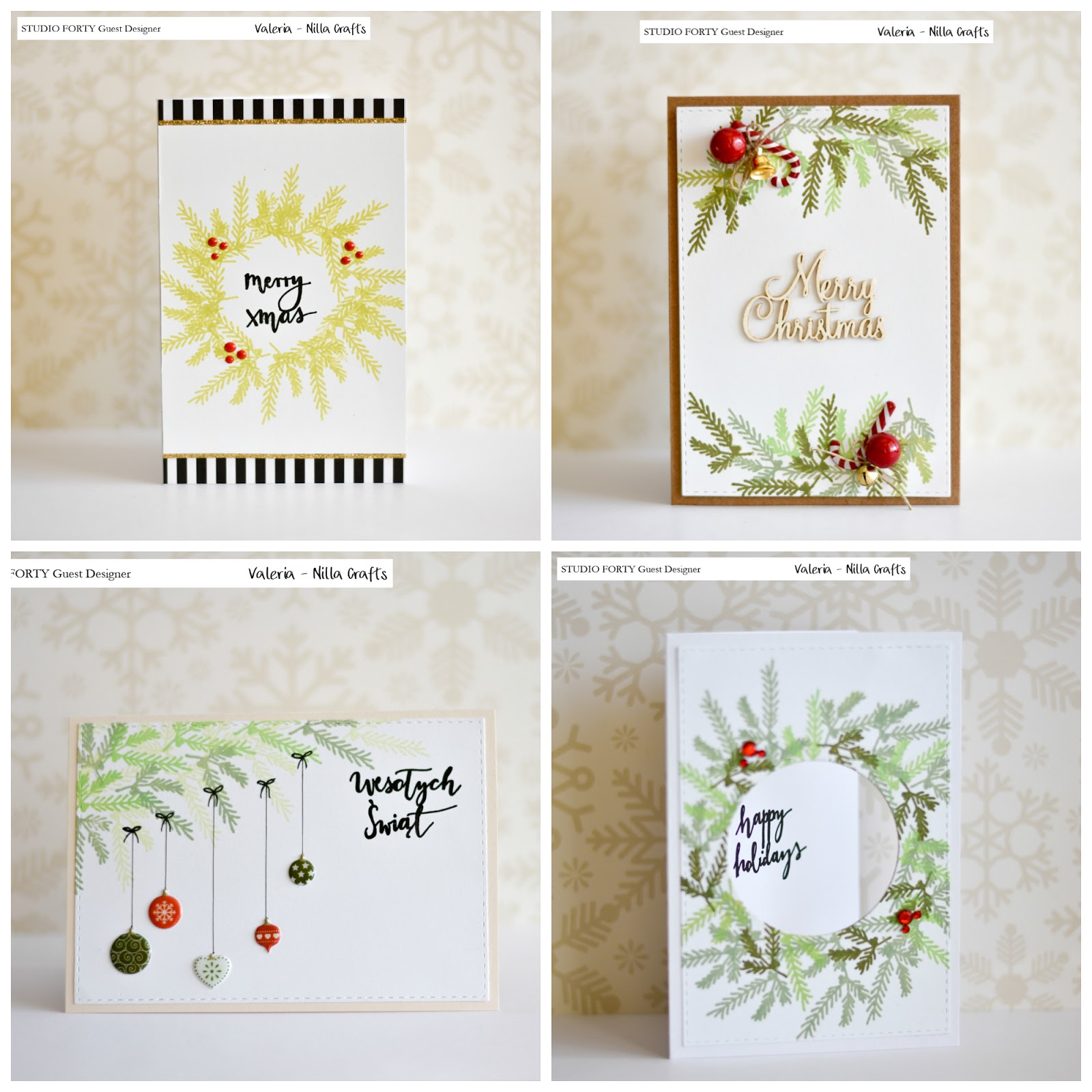 Studioforty Christmas Cards With Valeria