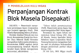 Extension of Masela Block Contract Agreed