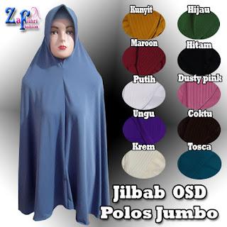 Jilbab Syar'i OSD Jumbo Model Polos