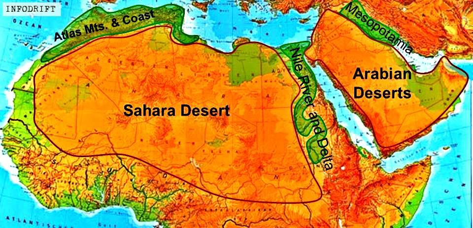 sahara & arabian deserts