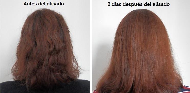 Anter y después alisado brasileño de Kativa