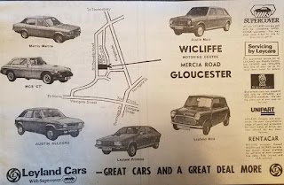 Wicliffe, Mercia Road, Gloucester - Leyland Cars advert