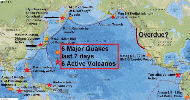 Seemorerocks Ring Of Fire 6 Extremely Active Volcanoes In The Last