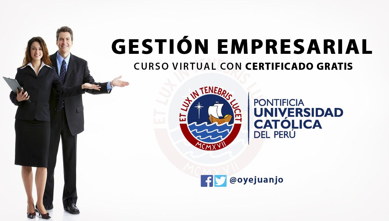 Curso De Gestion Empresarial Certificado Por Pontificia Universidad Catolica Del Peru