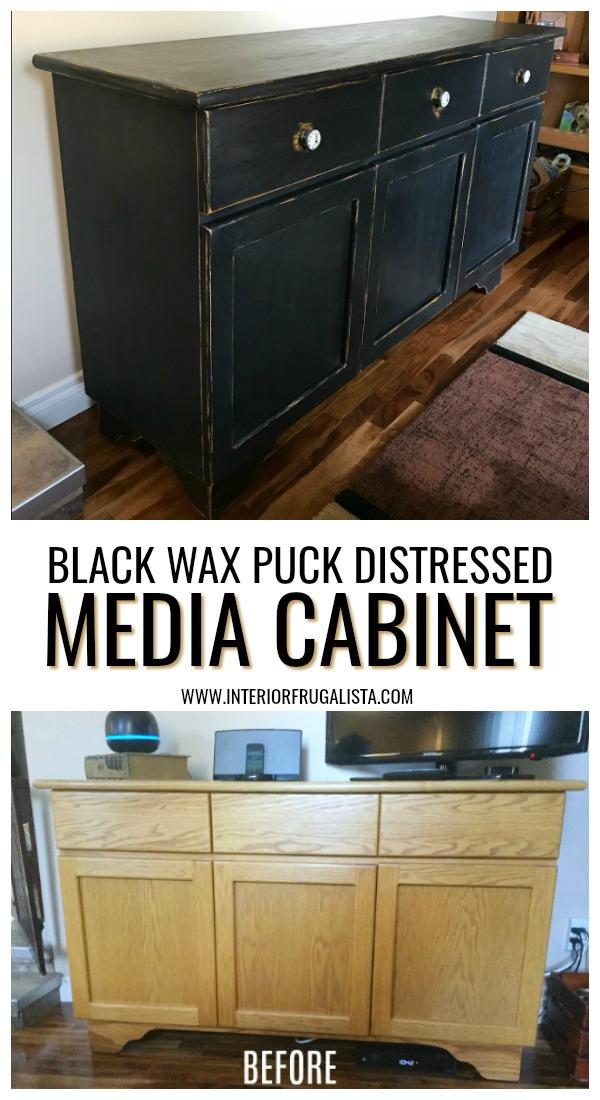 Black Media Cabinet Makeover
