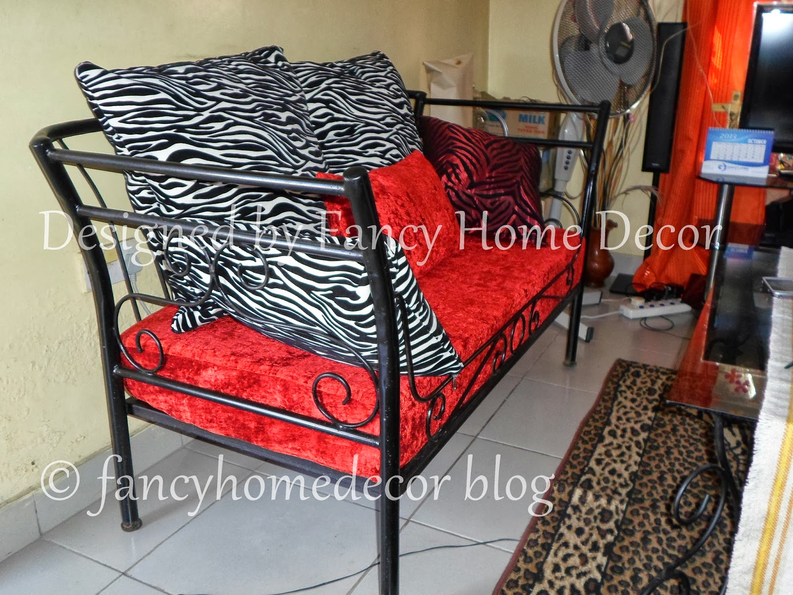 Fancy Home Decor MY PROJECT 6 SEATERS METAL SOFA CHAIRS IN ZEBRA