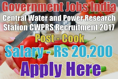 Central Water and Power Research Station CWPRS Recruitment 2017