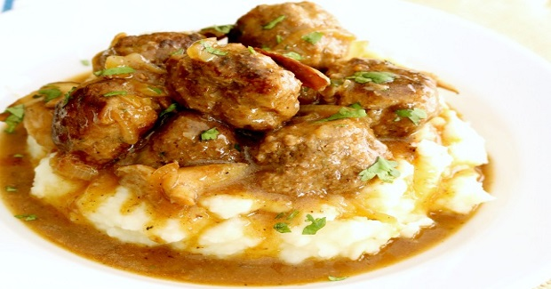 Salisbury Steak Meatballs With Mushroom Gravy Recipe