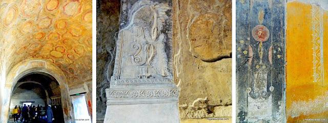 Afrescos decoram ambientes do Sítio Arqueológico de Pompeia