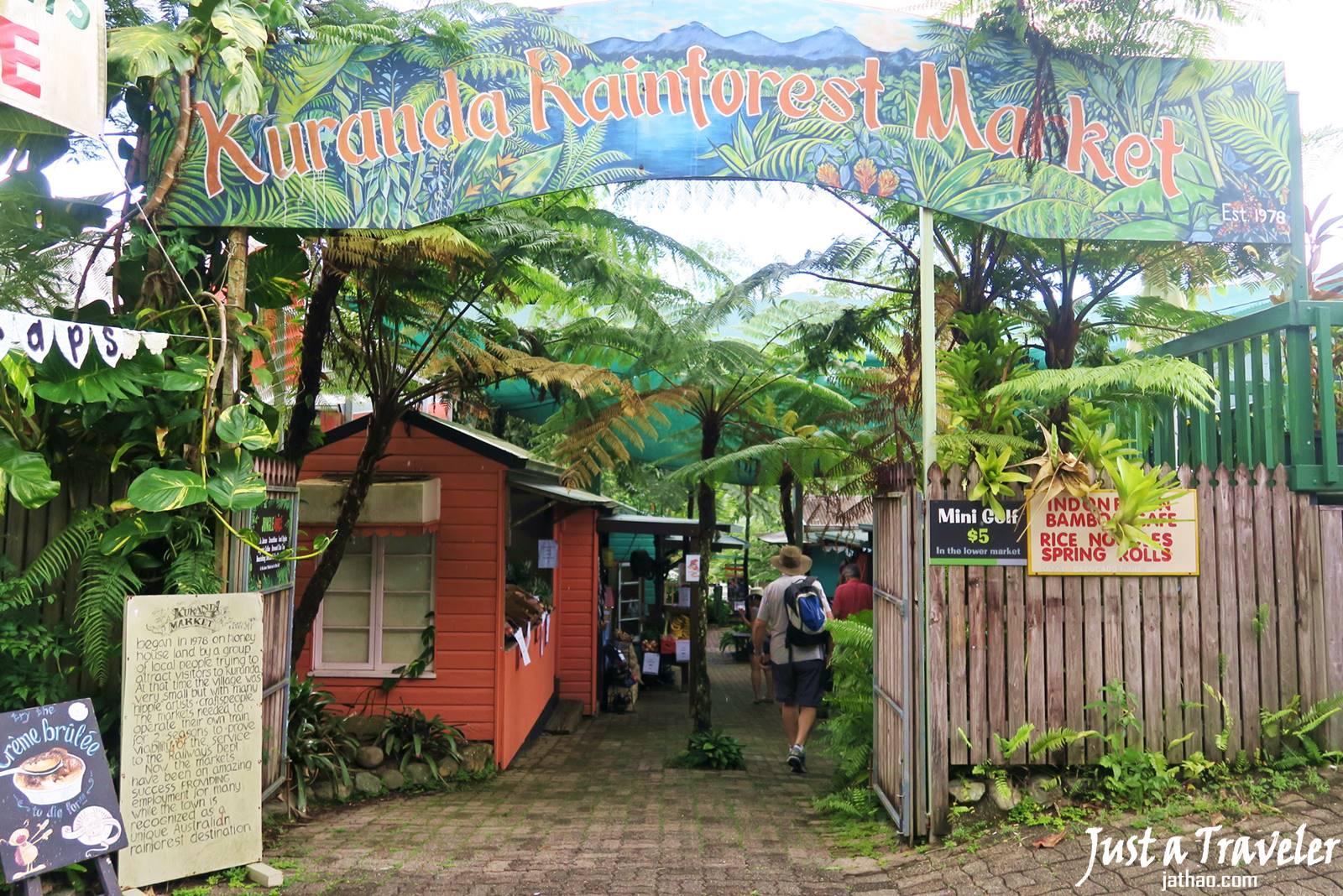 凱恩斯-庫蘭達-景點-雨林市集-自由行-旅遊-澳洲-Cairns-Kuranda-Market-Travel-Tourist-Attraction-Australia